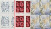AUS SG3530-2 Special Occasions - Love 2011 self-ad set of 3 from booklets (exSB369-71) blocks of 4